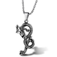 Dragon Pendant Stainless Steel Necklace