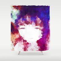 Beautiful soul & mind by healinglove, mixed media, drip paint, hand drawing art Shower Curtain by Healinglove