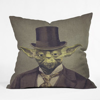 DENY Designs Home Accessories | Terry Fan Sir Yoda Throw Pillow