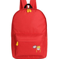 Hello Girl Backpack In Red