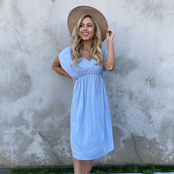 Everything Beautiful Midi Dress in Baby Blue