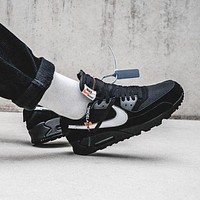 Nike x Off-White Air Max 90 OW Running shoes for leisure sports-2