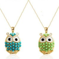 Chic Pearl Owl Pendant Necklace