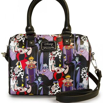 """Disney Villains"" Pebble Duffle by Loungefly (Black)"