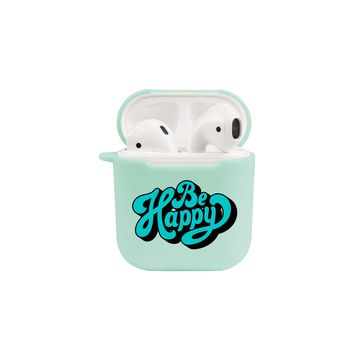 Soft TPU Airpod Protective Case - BE HAPPY