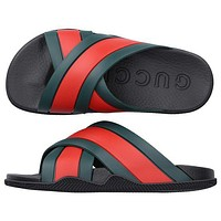 GG G Slide sandal with Web Shoes slippers