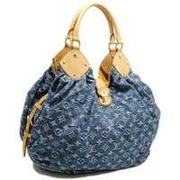 Auth LOUIS VUITTON Monogram Denim XL Shoulder Bag M95515 Blue /59665 FREE SHIP
