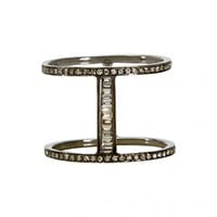 Shay Jewelry - Black Gold Bar Ring   Just One Eye