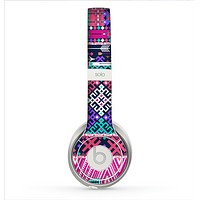 The Pink & Teal Modern Colored Aztec Pattern Skin for the Beats by Dre Solo 2 Headphones