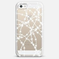 Trapped White Transparent iPhone 5s case by Project M   Casetify