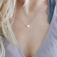 Love Blindly Necklace - Ivory