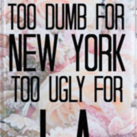 Too Dumb For New York, Too Ugly For L.A.