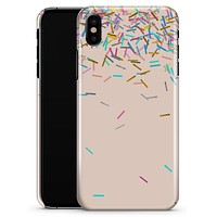 Colorful Candy Sticks Over Apricot - iPhone X Clipit Case