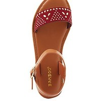 BAMBOO STUDDED BUCKLE SANDALS