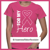 For My Hero Breast Cancer Shirts
