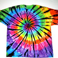 Tie Dye Shirt/ Rainbow Stained Glass Spiral