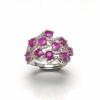 TBJ, Romantic design natural diffusion Ruby gemstone ring ,good making ring in 925 sterling silver for women as a gift