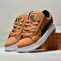 MCM & PUMA joint series 50th anniversary joint limited edition couple shoes F-CSXY