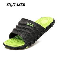 Men's Sandals Flip Flops / Men High Quality Soft Massage Beach Slippers