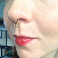 Septum chain, double chain hanging style - different gauges/colours