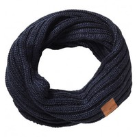 Rib knitted tunnel scarf