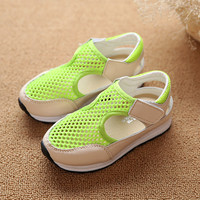 Mesh Breathable Casual Girls Shoes Sneaker Tenis Infantil Kids Boys Running Shoes Non Slip Fashion Sport Sneakers TX197