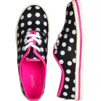 Glitter Dot Canvas Sneakers | Girls Sneakers Shoes | Shop Justice
