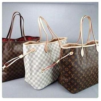 LV Women Shopping Leather Tote Handbag Shoulder Bag mieniwe?