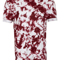 Wine Printed Low Roll T-Shirt - T-shirts & Vests - New In - TOPMAN