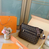 New LV Louis Vuitton men's Leather Shoulder Bag LV Tote LV Handbag LV Shopping Bag LV Messenger Bags