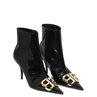 BALENCIAGA 80 mm BB lacquer and ankle boots