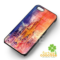 Disney Castle Quote  for  iPhone 6S case, iPhone 5s case, iPhone 6 case, iPhone 4S, Samsung S6 Edge
