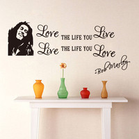 character Love  NEW Bedroom Living Room Backdrop Removable Waterproof Vinyl decoration love wall stickers home decor SM6
