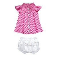 Masala Baby Girls Infant Country Gingham 2 Piece Set
