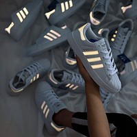 Adidas men's and women's low-top flat wild casual reflective sneakers shoes