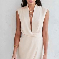 Finders Keepers Dreaming Of You Plunging Surplice Mini Dress