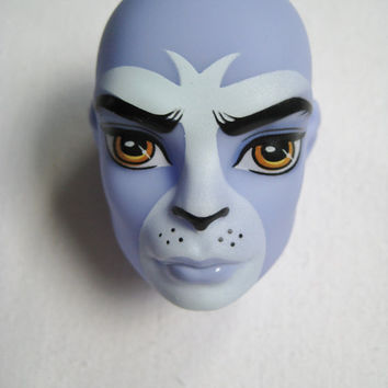 Monster High Doll Head Loose Body Part Purple Puma Boy Create A Monster CAM Part Just Removed From Package for OOAK