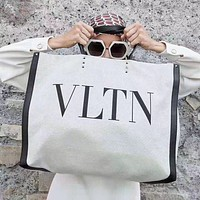 Valentino hot sale new ladies temperament canvas shopping tote shoulder bag