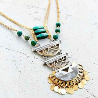 Green Fortune Stone Necklace- Green One