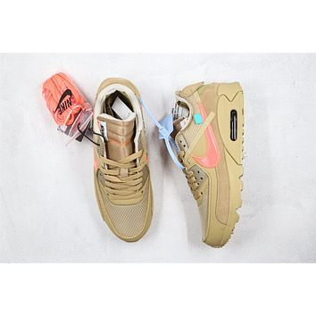 OW x Air Max 90 Sand AA7293-200 Size 36-46