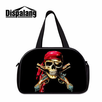Latest Design Skull Canvas Gym Bags for Boys Coolest Duffle Bags On Sale Womens Gym Tote Boys work Out Bags Travel Carry on Bags