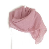 Hand Knit Vintage Rose Lace Shawl