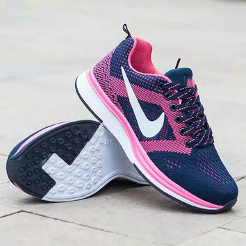 """Nike"" Fashion Casual Male Female Breathable Comfortable Fly Weave Couple Sneakers Running Shoes"