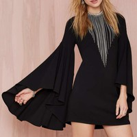 Nasty Gal Hells Bells Crepe Dress