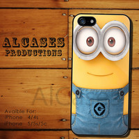 minion new jeans case for iphone 4/4s case, iphone 5 case,iphone 5s case, iphone 5c case