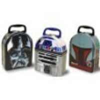 Star Wars Head Shape Carry All Tin Box Styles may vary (one piece)