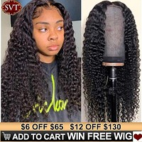 SVT Indian Deep Curly Lace Frontal Human Hair Wig