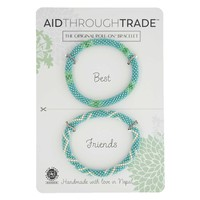 Roll-On Friendship Bracelets - Turquoise Vibe - Aid Through Trade