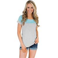 Brittany Striped Colorblocked Tee