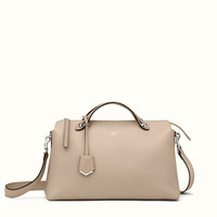 FENDI | LARGE BY THE WAY Boston bag in beige leather
